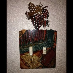 Glazed Metal Pinecone Light-Switch covers